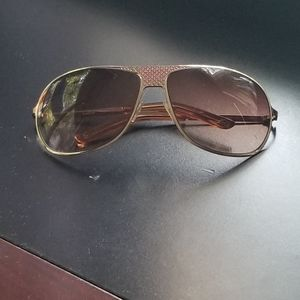 Babe Aviator Sunglasses. Gold with Brown Lenses.